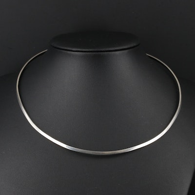 Mexican Sterling Silver Collar Necklace
