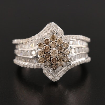 10K White Gold 1.50 CTW Diamond Ring