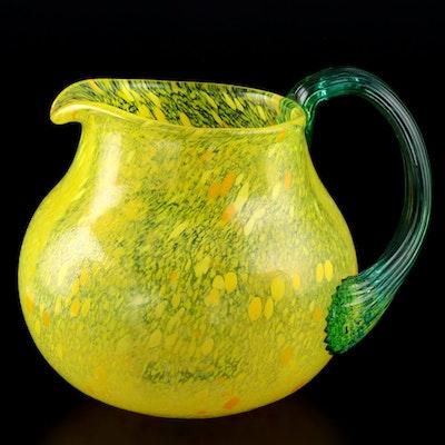 "Kosta Boda ""Frutteria"" Series Art Glass Pitcher by Gunnel Sahlin"