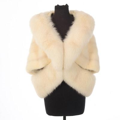 Mink and Fox Fur Wedding Cape, Vintage