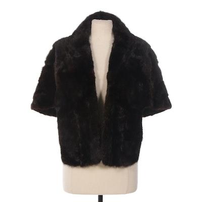 Dark Mahogany Mink Fur Stole from Zinman Furs