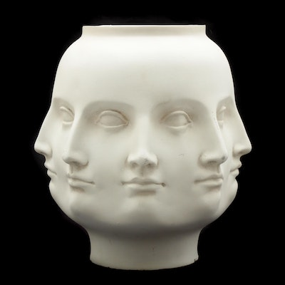 TMS Regency Style Perpetual Face Vase in the Style of Pietro Fornasetti, 2005