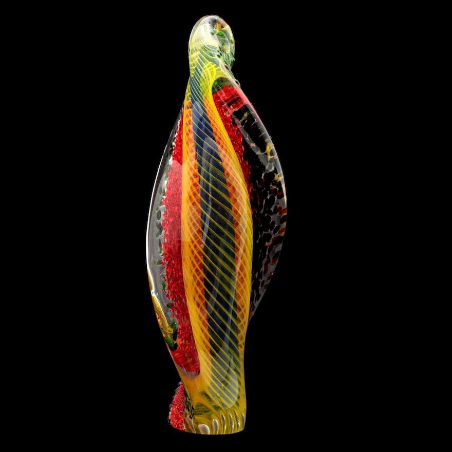 Michael Wallace Art Glass Sculpture, 1997