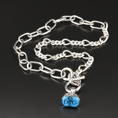 Dolce & Gabana Resin Figaro Chain Link Necklace