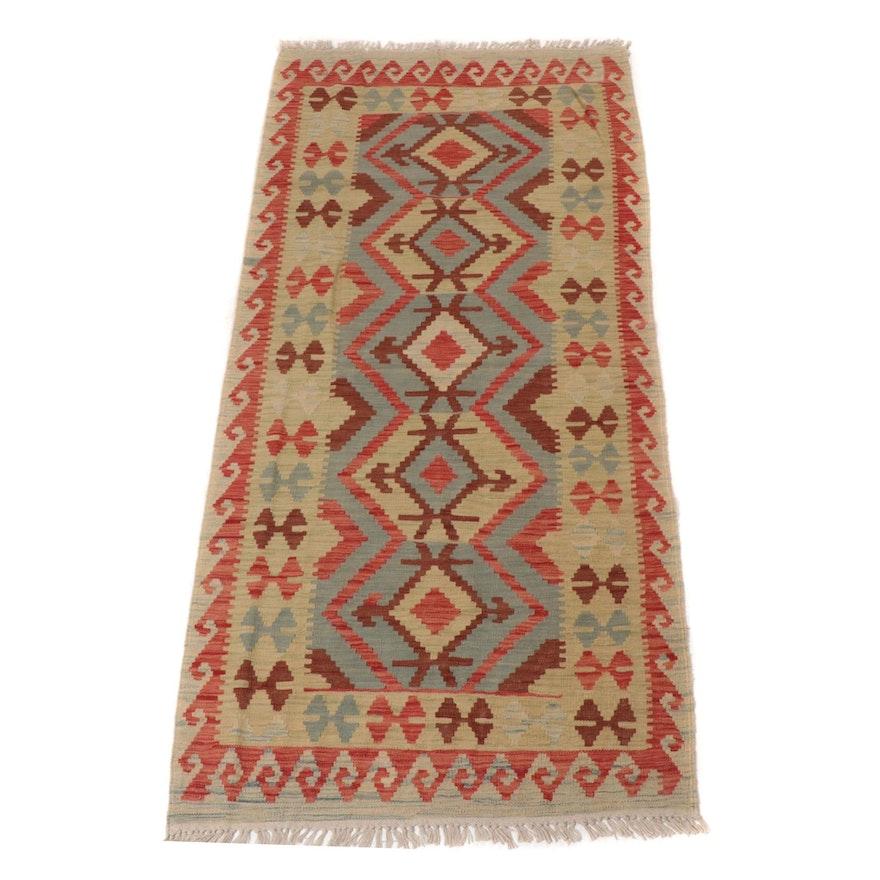 3'2 x 7'2 Handwoven Turkish Kilim Rug