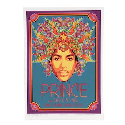 "David Edward Byrd Giclée Poster ""Prince with 3rd Eye Girl - 2013"""