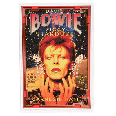 "David Edward Byrd Giclée Poster ""Bowie/Ziggy at Carnegie Hall 1972,"" 2019"