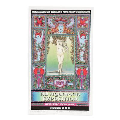 "David Edward Byrd Giclée Poster ""Woodstock Festival Wallkill Version, 1969"""