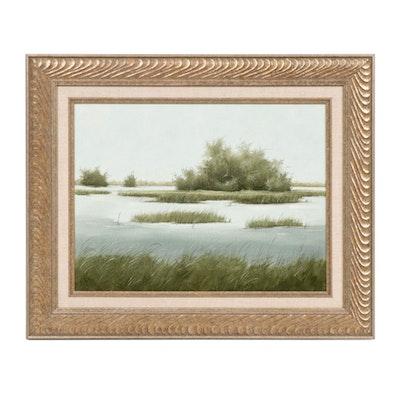 Marsh Scene Oil Painting