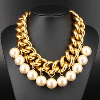 Erwin Pearl Curb Chain and Pearl Necklace
