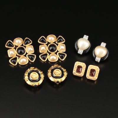 Clip-On Earring Selection Featuring Carolee and Kenneth Jay Lane