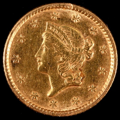 1852 Liberty Head $1 Gold Coin