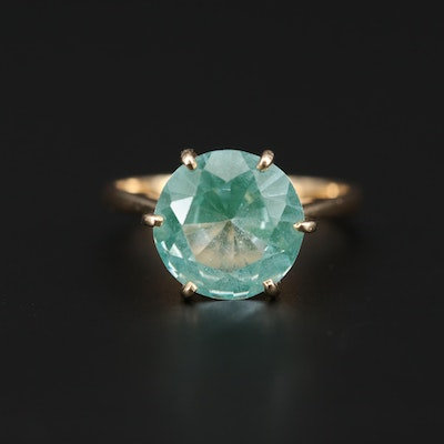 14K Yellow Gold Spinel Solitaire Ring