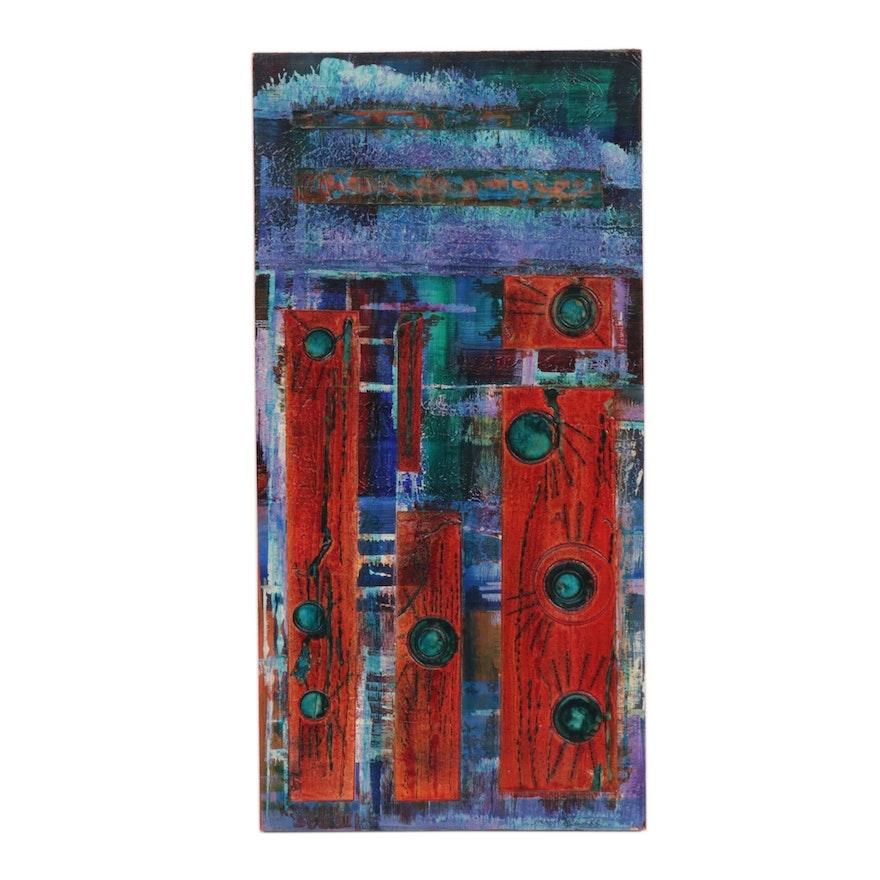 "Moon Stumpp Acrylic Painting ""Tile Series"""