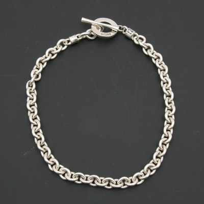 Vass Ludacer Sterling Silver Cable Chain Necklace