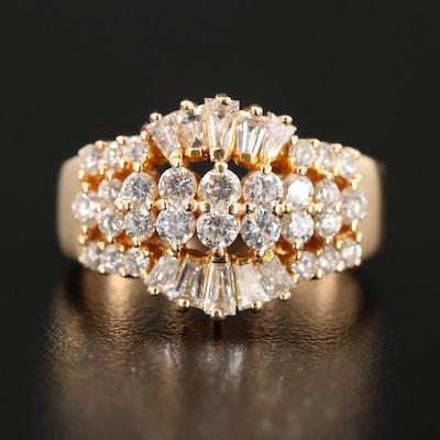 18K Yellow Gold 1.35 CTW Diamond Ring