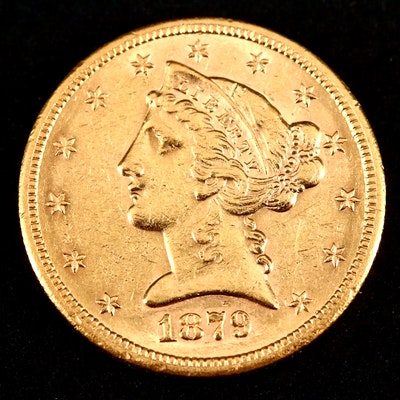 1879-S Liberty Head $5 Gold Coin