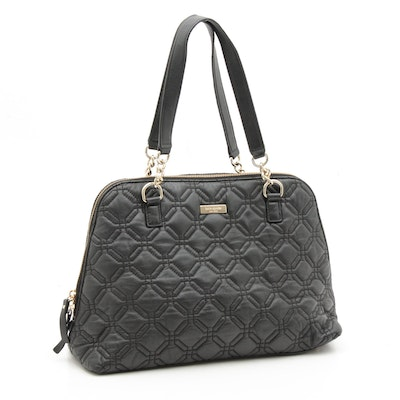 Kate Spade New York Black Quilted Leather Top Handle Bag