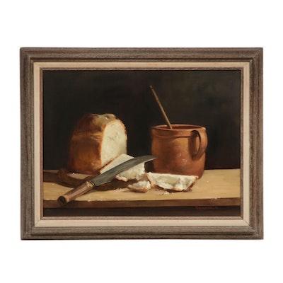 Robert Brubaker Still Life Oil Painting, 1981