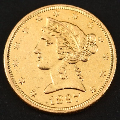1897 Liberty Head $5 Gold Coin