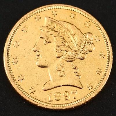 1897 Liberty Head $5 Gold Coin