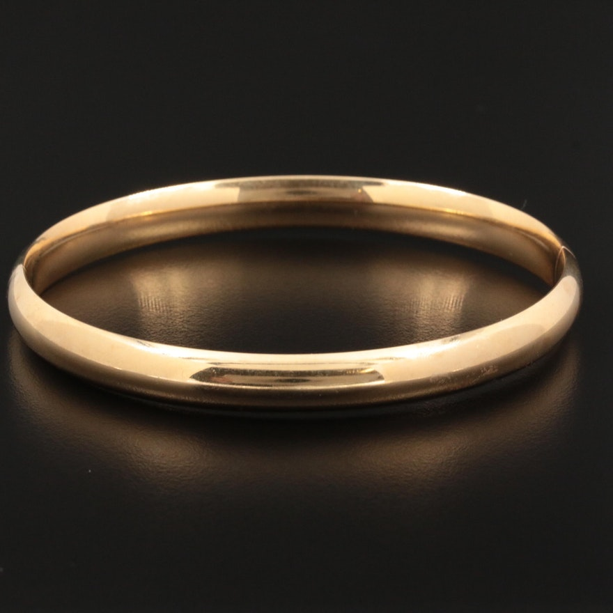 "14K Yellow Gold ""Eternal Gold"" Bangle Bracelet"