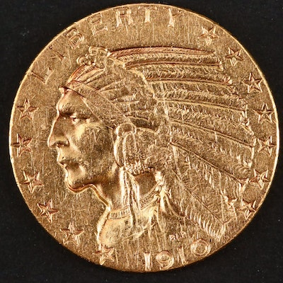 1910-S Indian Head $5 Gold Coin