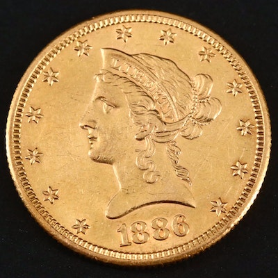 1886-S Liberty Head $10 Gold Eagle Coin