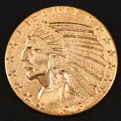 1913-S Indian Head $5 Gold Coin