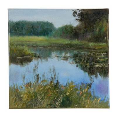 "Garncarek Aleksander Oil Painting ""Lake"""