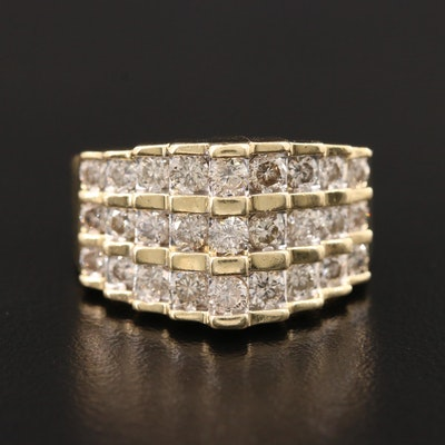 14K Yellow Gold 1.25 CTW Diamond Ring