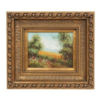 Floral Landscape Oil Painting