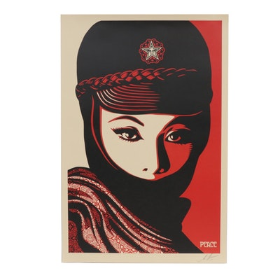 "Shepard Fairey Offset Poster ""Mujer Fatale,"" 2019"