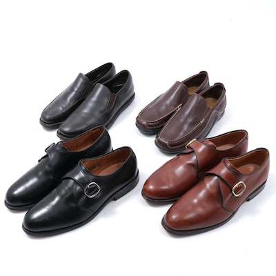 Men's Prada, Allen Edmonds and Cole Haan Leather Monk Strap Shoes and Loafers