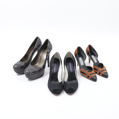 Stuart Weitzman, Jamie Marx, and Ralph Lauren Collection Heels