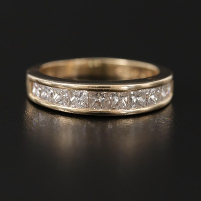 14K Yellow Gold 1.05 CT Diamond Ring
