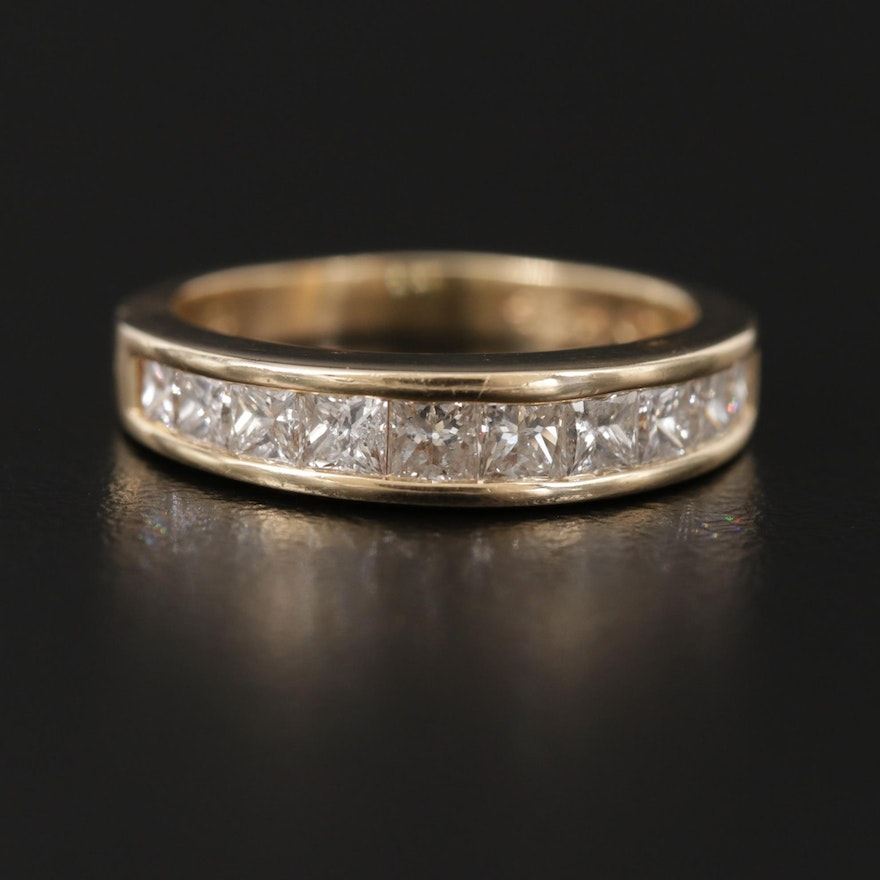 14K Yellow Gold 1.05 CT Diamond Ring