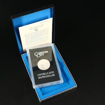 Boxed GSA 1884 Carson City Silver Morgan Dollar