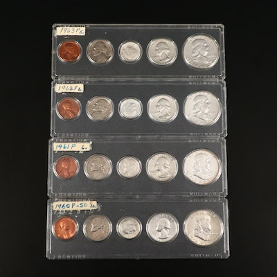 Group of Four Early U.S. Mint Sets Including a 1960 (small date)