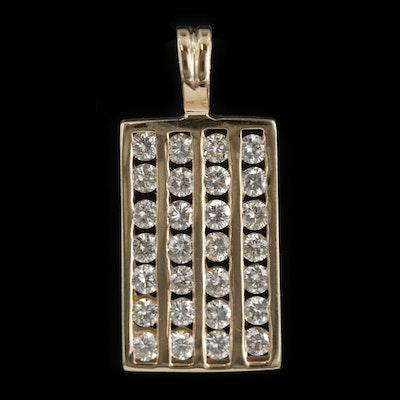 14K Yellow Gold 1.75 CTW Diamond Pendant