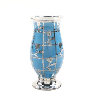 Mid Century Friedrich Spahr Silver Overlay on Porcelain for Hutschenreuther
