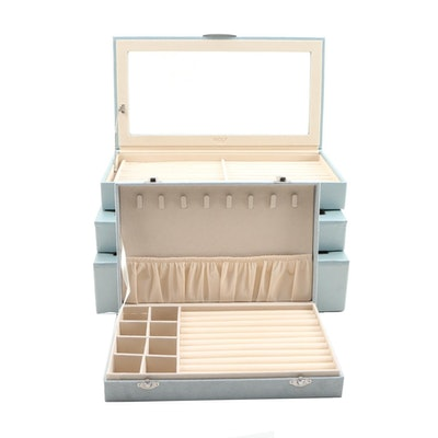 Wolf Designs Faux Leather Jewelry Boxes and Faux Suede Jewelry Box, Contemporary
