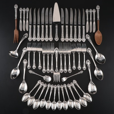"Stieff ""Royal Dynasty"" Sterling Flatware Service for Six, 1966-1991"