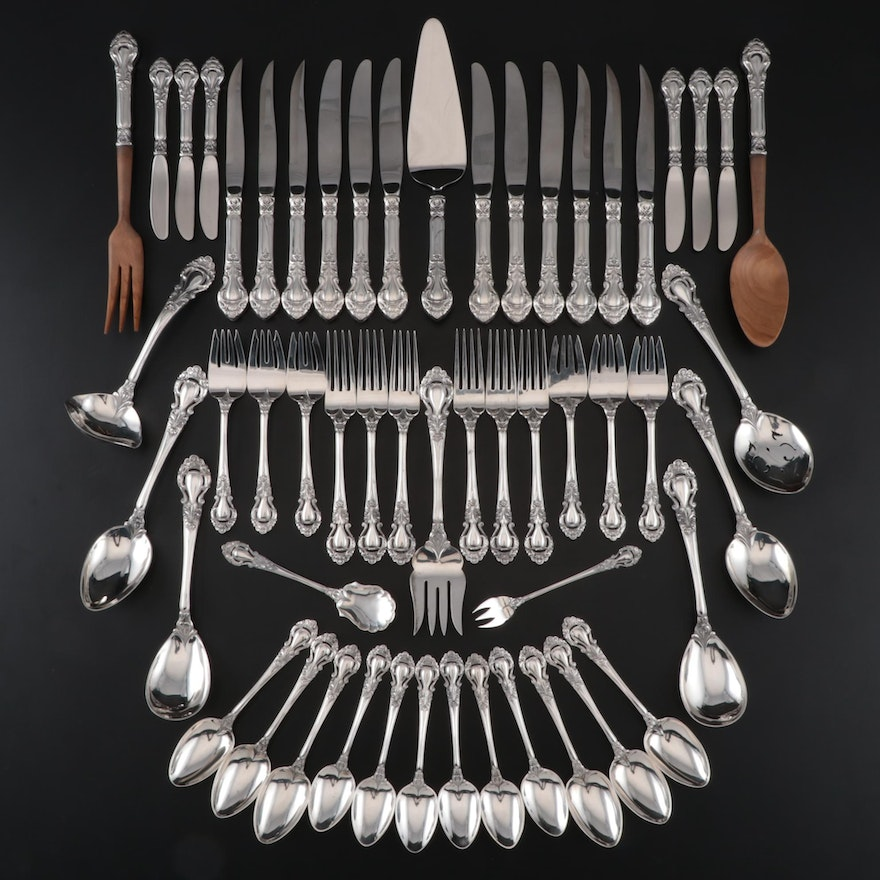 """Stieff """"Royal Dynasty"""" Sterling Flatware Service for Six, 1966-1991"""
