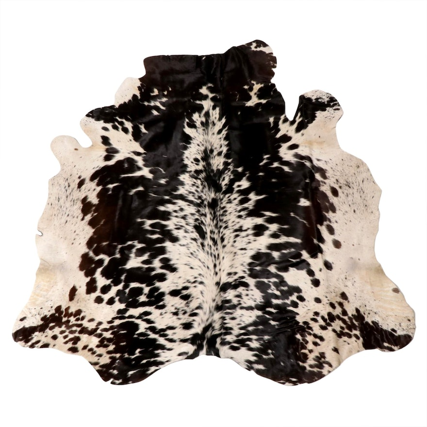 4'9 x 5'1 Natural Cowhide Area Rug