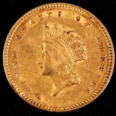 1854 Small Indian Princess Head Gold Dollar, Type II