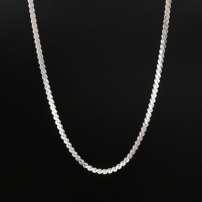 Sterling Silver Serpentine Chain