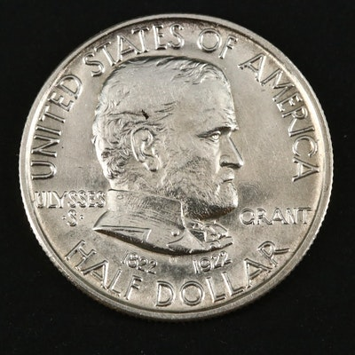 1922 Ulysses S. Grant Memorial Commemorative Silver Half Dollar