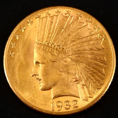 1932 Indian Head $10 Gold Eagle Coin