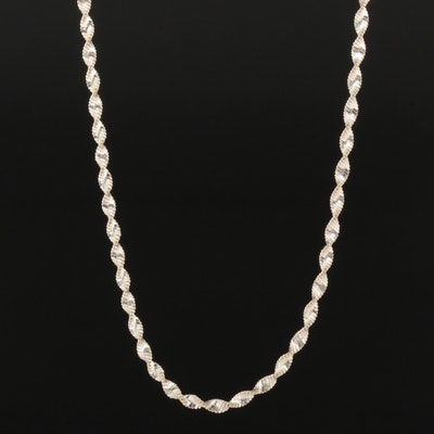 Sterling Silver Twisted Herringbone Chain